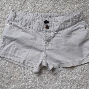 Express Jeans Size 8 white jean shorts
